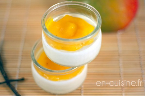 recette panna cotta all g e et coulis de mangue au thermomix en cuisine. Black Bedroom Furniture Sets. Home Design Ideas