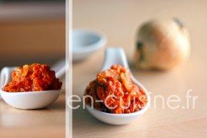 Recette sauce tomate au thon et champignons au Thermomix