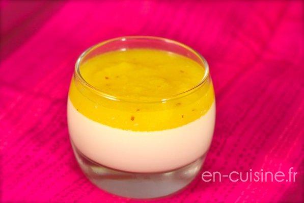 Recette panna cotta légère et coulis ananas au Thermomix