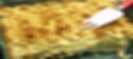 Recette crumble de céleri, chèvre et lardons au Thermomix