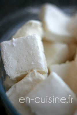 Recette guimauves à la vanille au Thermomix
