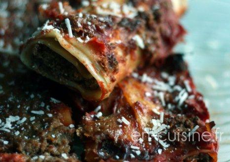Recette cannelloni au boeuf et à la tomate au Thermomix