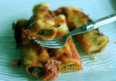 Recette cannelloni aux épinards et ricotta au Thermomix