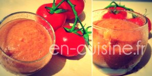 Recette gaspacho andalou au Thermomix