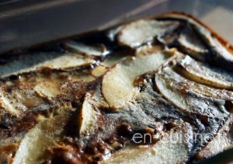 Recette clafoutis poire cacao léger au Thermomix