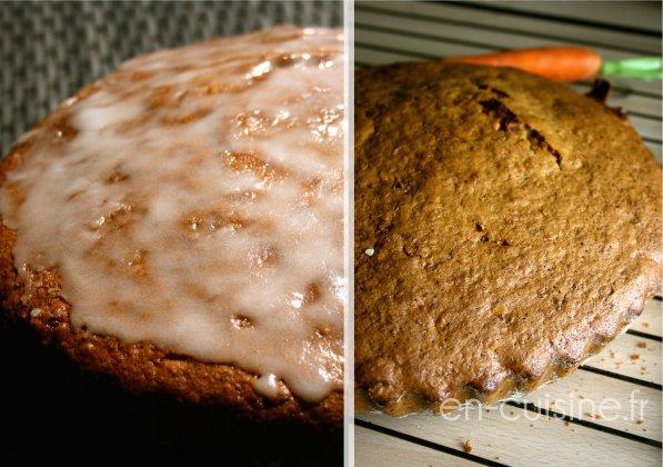 Recette carrot cake, glaçage au citron au Thermomix