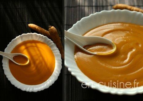 Recette velouté de potimarron et carottes jaunes au Thermomix