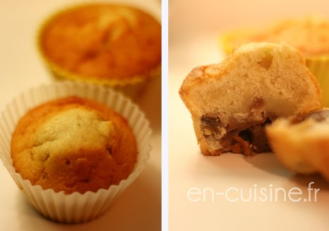 Recette muffins aux châtaignes coeur de crème de marrons au Thermomix